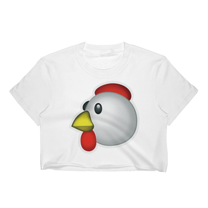 Emoji Crop Top T-Shirt - Chicken-Just Emoji