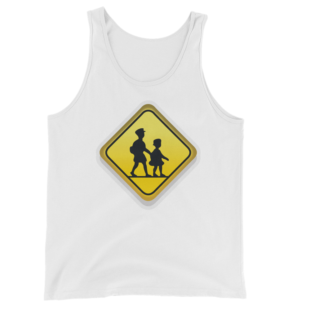 Men's Emoji Tank Top - Children Crossing-Just Emoji