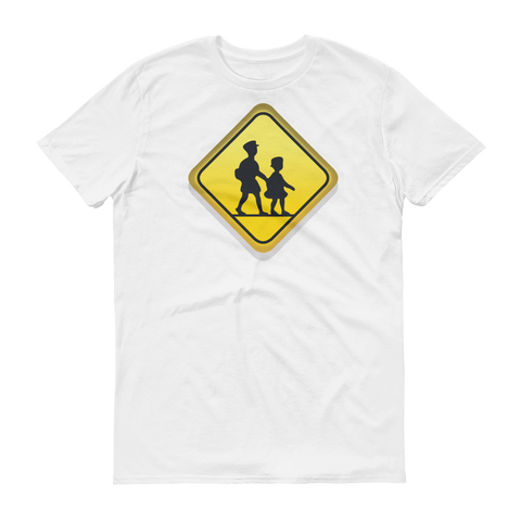 Men's Emoji T-Shirt - Children Crossing-Just Emoji
