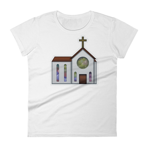 Women's Emoji T-Shirt - Church-Just Emoji