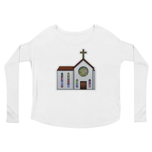 Women's Emoji Long Sleeve T-Shirt - Church-Just Emoji