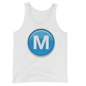 Men's Emoji Tank Top - Circled Capital Letter M-Just Emoji