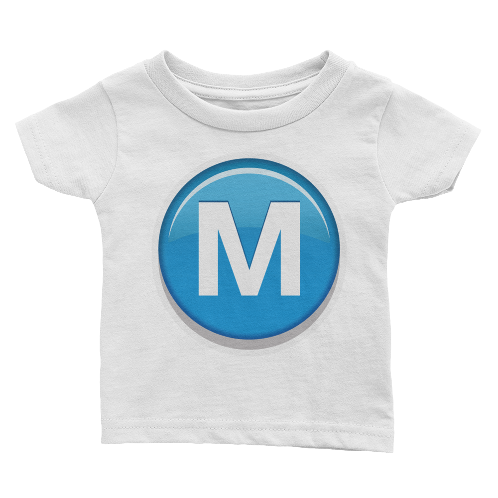 Emoji Baby T-Shirt - Circled Capital Letter M-Just Emoji