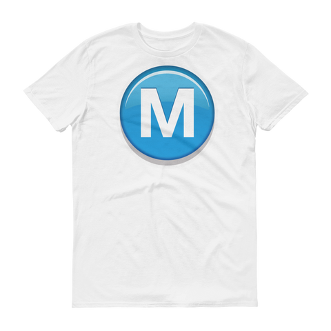 Men's Emoji T-Shirt - Circled Capital Letter M-Just Emoji