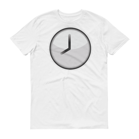 Men's Emoji T-Shirt - Clock Face Eight O'Clock-Just Emoji