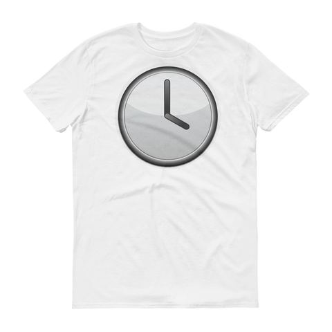 Men's Emoji T-Shirt - Clock Face Four O'Clock-Just Emoji