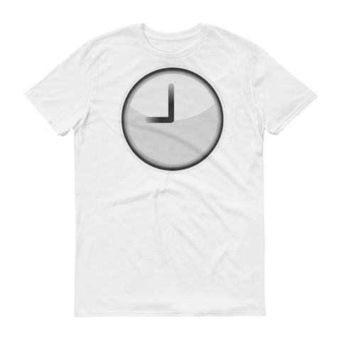 Men's Emoji T-Shirt - Clock Face Nine O'Clock-Just Emoji
