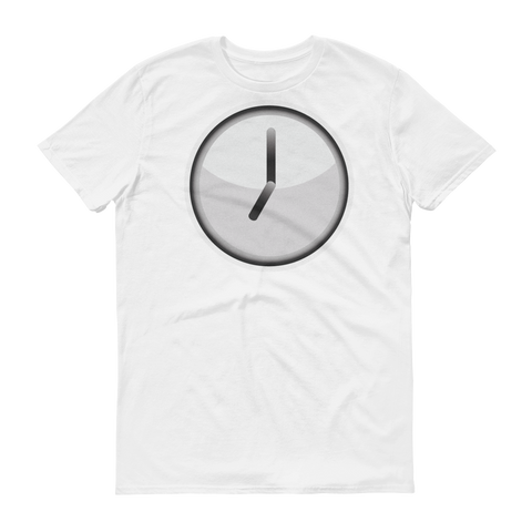 Men's Emoji T-Shirt - Clock Face Seven O'Clock-Just Emoji