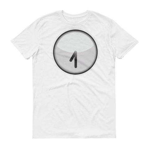 Men's Emoji T-Shirt - Clock Face Seven Thirty-Just Emoji