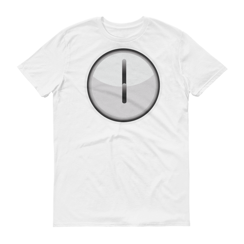 Men's Emoji T-Shirt - Clock Face Six O'Clock-Just Emoji