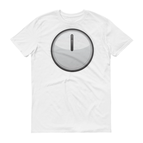 Men's Emoji T-Shirt - Clock Face Twelve O'Clock-Just Emoji