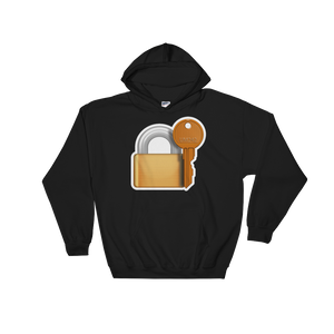 Emoji Hoodie - Closed Lock With Key-Just Emoji