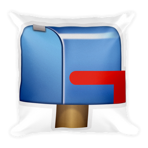 closed mailbox. Emoji Pillow - Closed Mailbox With Lowered Flag-Just