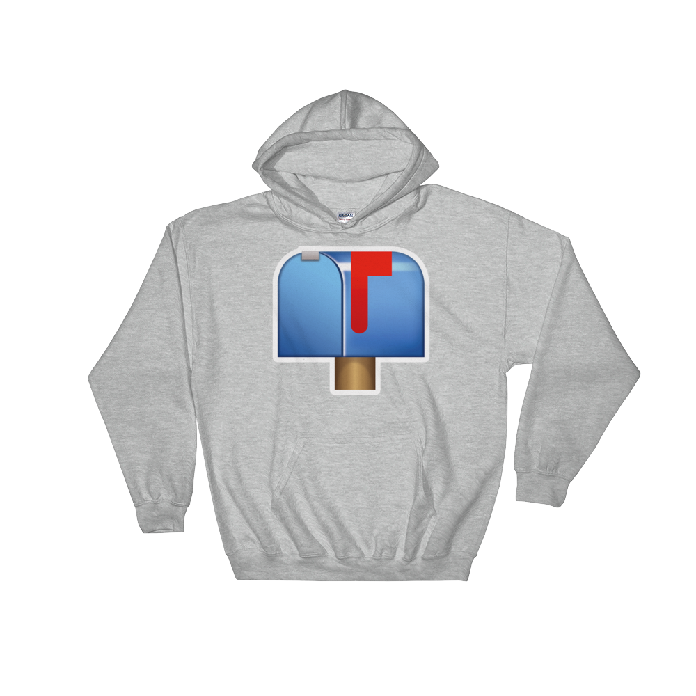 Emoji Hoodie - Closed Mailbox With Raised Flag-Just Emoji