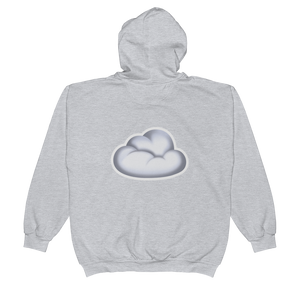 Emoji Zip Hoodie - Cloud-Just Emoji