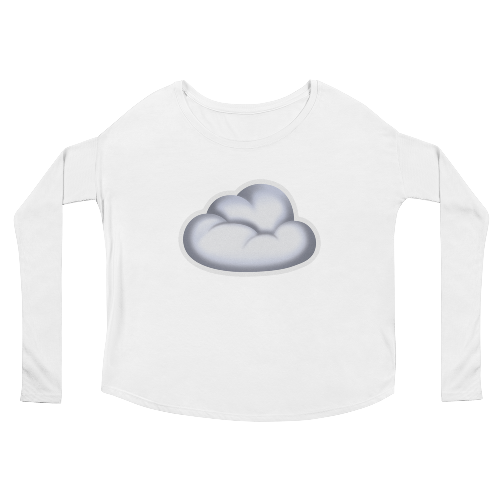 Women's Emoji Long Sleeve T-Shirt - Cloud-Just Emoji