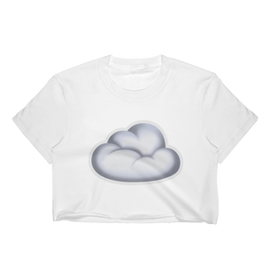 Emoji Crop Top T-Shirt - Cloud-Just Emoji