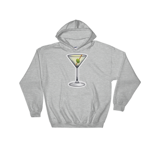 Emoji Hoodie - Cocktail Glass-Just Emoji