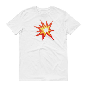 Men's Emoji T-Shirt - Collision Symbol-Just Emoji