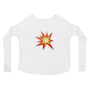 Women's Emoji Long Sleeve T-Shirt - Collision Symbol-Just Emoji