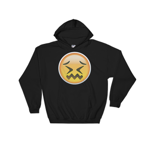 Emoji Hoodie - Confounded Face-Just Emoji