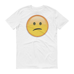 Men's Emoji T-Shirt - Confused Face-Just Emoji