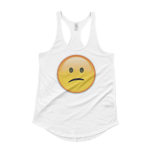 Women's Emoji Tank Top - Confused Face-Just Emoji