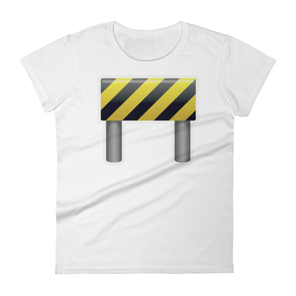 Women's Emoji T-Shirt - Construction Sign-Just Emoji