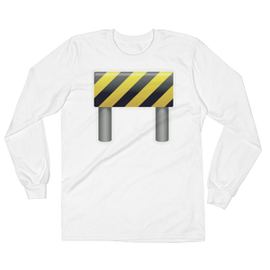 Men's Emoji Long Sleeve T-Shirt - Construction Sign-Just Emoji
