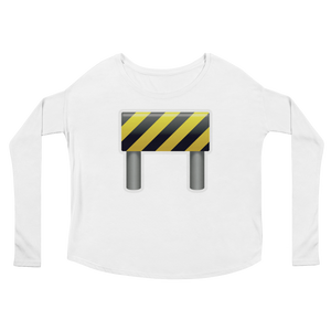 Women's Emoji Long Sleeve T-Shirt - Construction Sign-Just Emoji