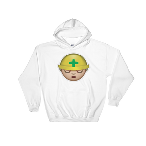 Emoji Hoodie - Construction Worker-Just Emoji
