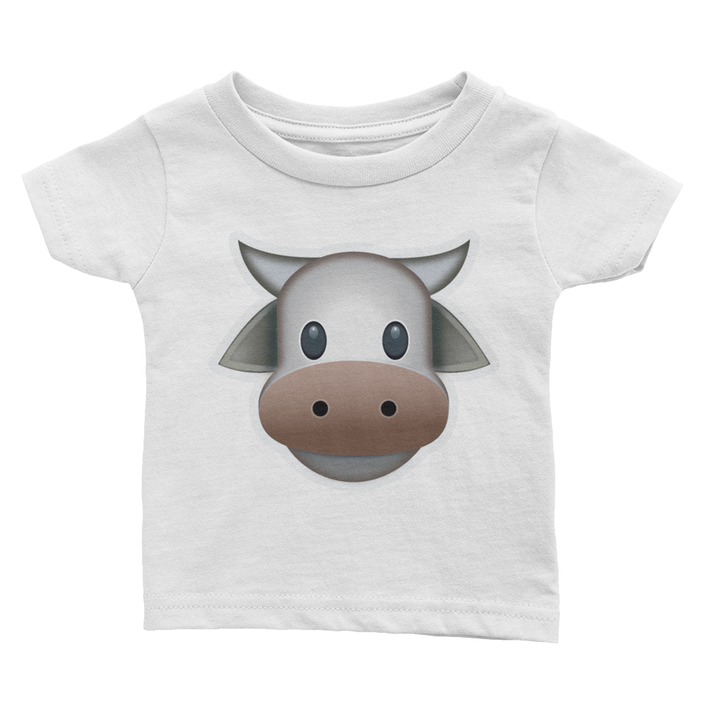 Emoji Baby T-Shirt - Cow Face-Just Emoji