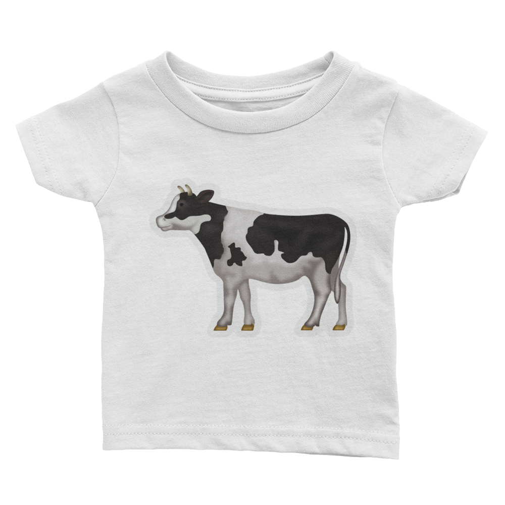 Emoji Baby T-Shirt - Cow-Just Emoji