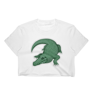 Emoji Crop Top T-Shirt - Crocodile-Just Emoji