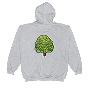 Emoji Zip Hoodie - Deciduous Tree-Just Emoji