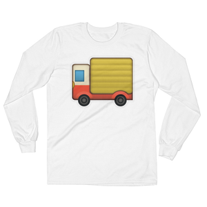 Men's Emoji Long Sleeve T-Shirt - Delivery Truck-Just Emoji