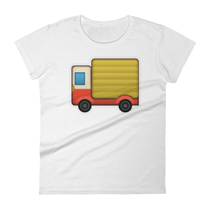 Women's Emoji T-Shirt - Delivery Truck-Just Emoji