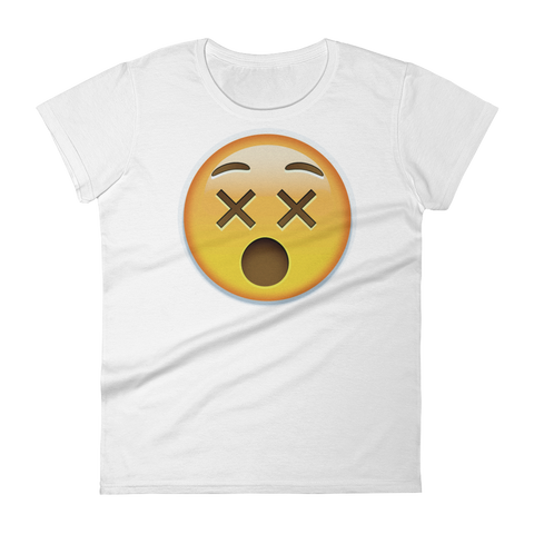 Women's Emoji T-Shirt - Dizzy Face-Just Emoji
