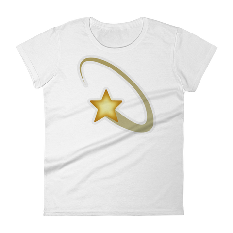 Women's Emoji T-Shirt - Dizzy Symbol-Just Emoji