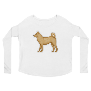 Women's Emoji Long Sleeve T-Shirt - Dog-Just Emoji