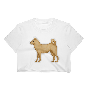 Emoji Crop Top T-Shirt - Dog-Just Emoji