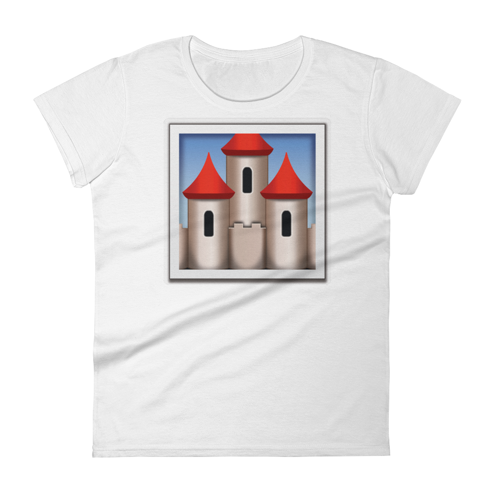 Women's Emoji T-Shirt - European Castle-Just Emoji