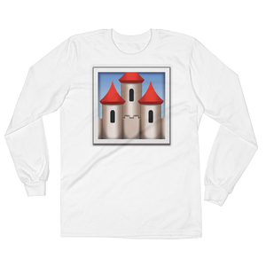 Men's Emoji Long Sleeve T-Shirt - European Castle-Just Emoji