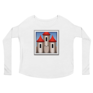 Women's Emoji Long Sleeve T-Shirt - European Castle-Just Emoji