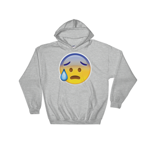 Emoji Hoodie - Face With Open Mouth And Cold Sweat-Just Emoji