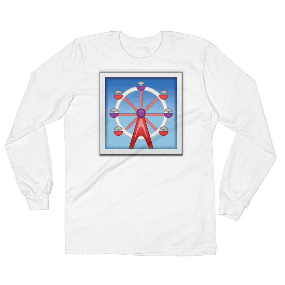 Men's Emoji Long Sleeve T-Shirt - Ferris Wheel-Just Emoji