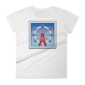 Women's Emoji T-Shirt - Ferris Wheel-Just Emoji