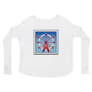 Women's Emoji Long Sleeve T-Shirt - Ferris Wheel-Just Emoji