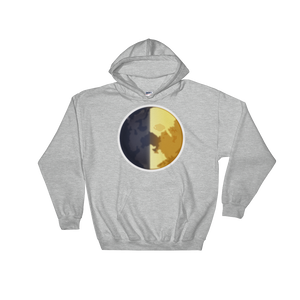 Emoji Hoodie - First Quarter Moon-Just Emoji