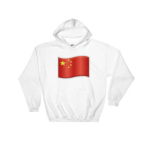 Emoji Hoodie - Flag Of China-Just Emoji